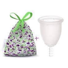 "Pack Fleurcup ""Transparente"" + Bolsita de algodón LadyCup"