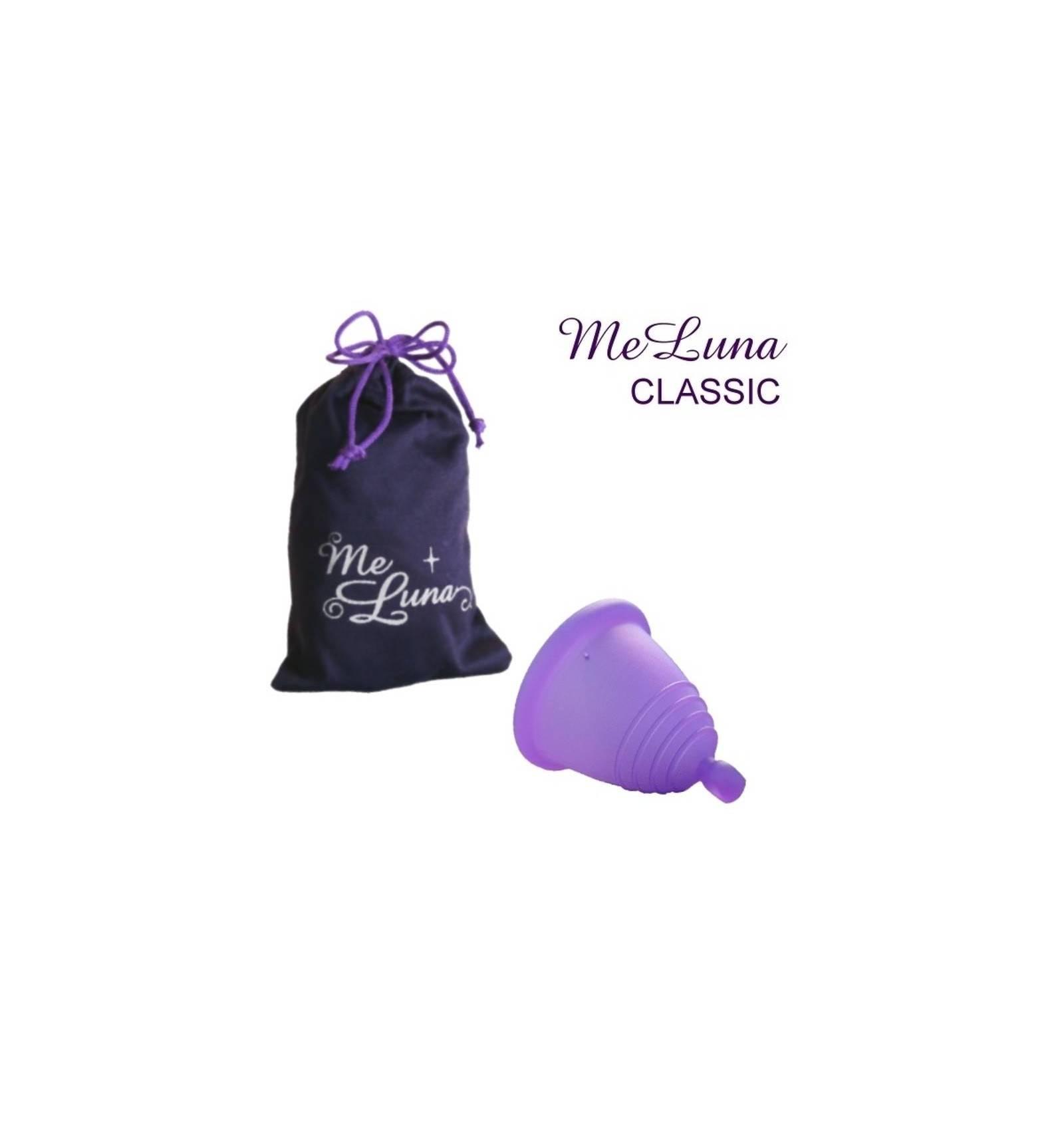 Copa menstrual MeLuna Shorty, Violeta, Classic, Bola