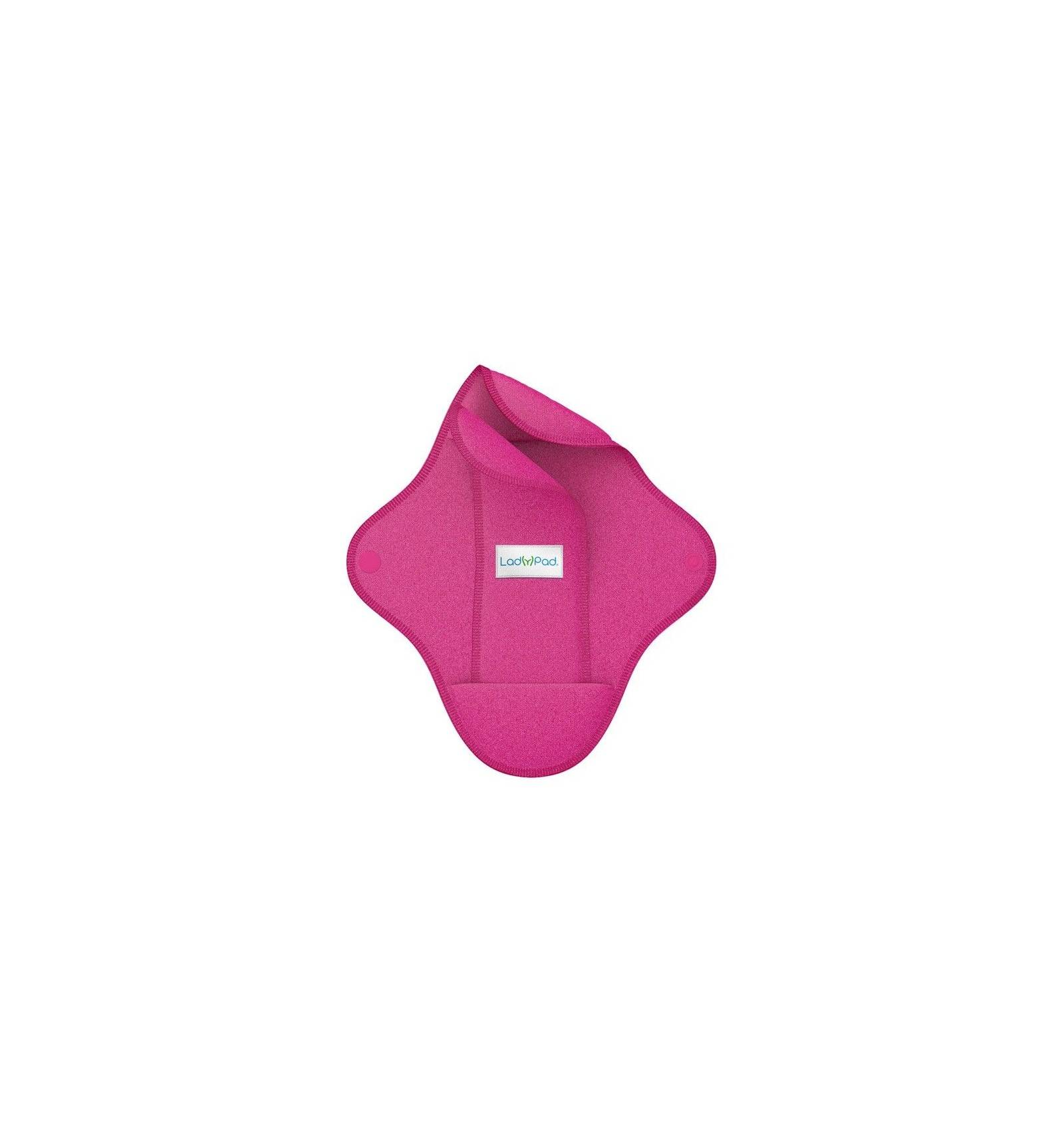"""Compresa y salvaslip de tela reutilizable """"rosa"""""""